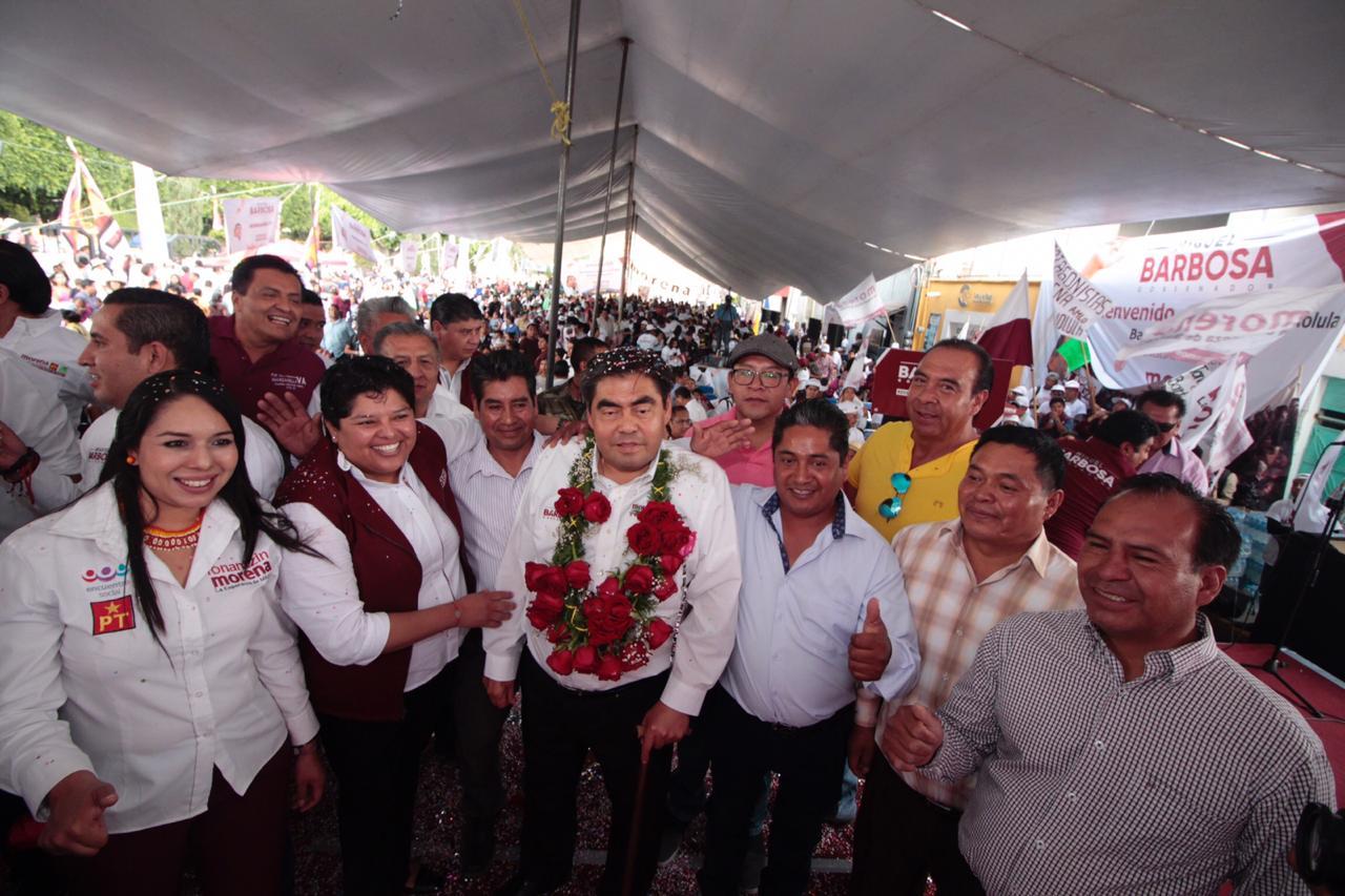 Instituto de pueblos originarios tendrá sede en casa Puebla, anuncia Miguel Barbosa Huerta