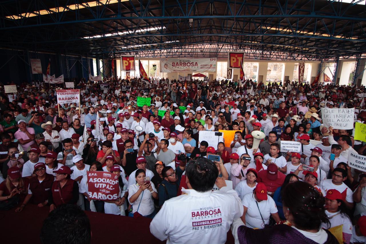 Barbosa Huerta se compromete en apoyar a presidentes municipales siempre y cuando respeten la ley