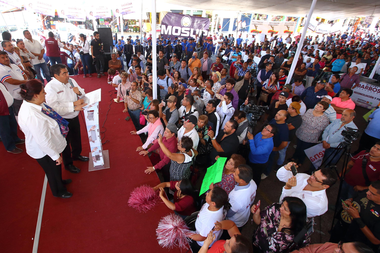 En Morena vamos en unidad a ganar la gubernatura de Puebla este 2 de junio: Miguel Barbosa