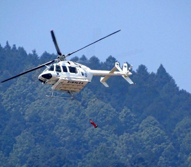 Aeronave cisterna combate incendio foretal en Tepeyahualco