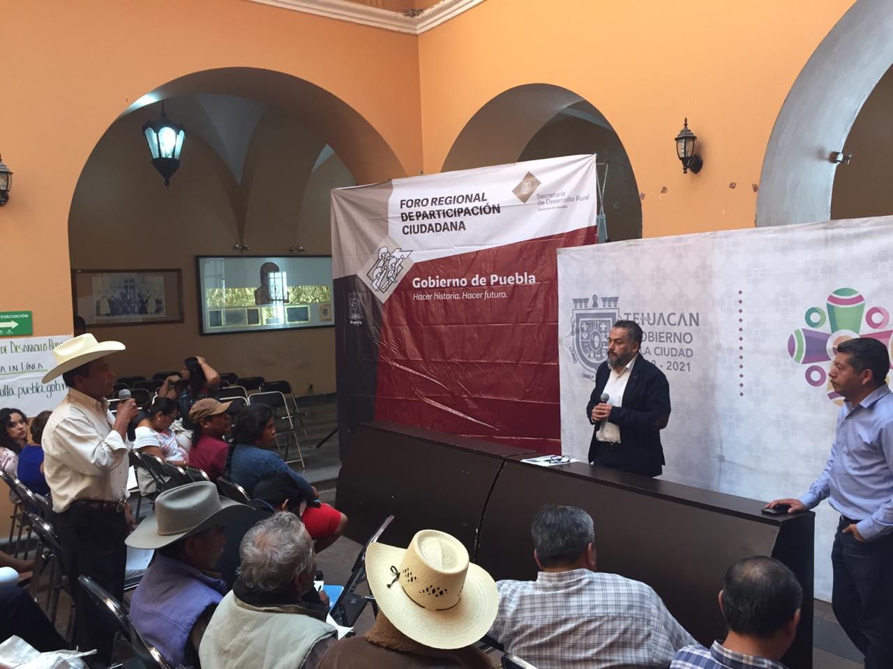 Se lleva a cabo en Tehuacán foro de consulta para recuperación del campo