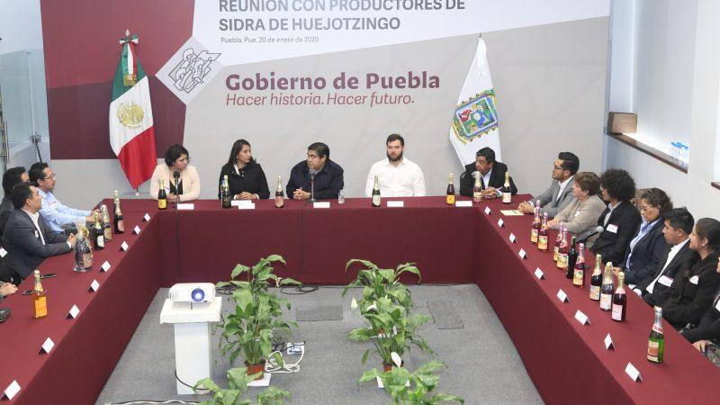 Posicionar la sidra poblana a nivel nacional, garantiza Miguel Barbosa a productores