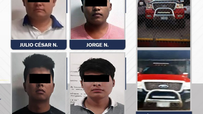 Detienen a cuatro hombres que pertenecían a banda desarticulada.